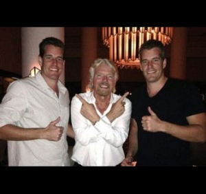 Bitcoins send the Winklevoss brothers into space
