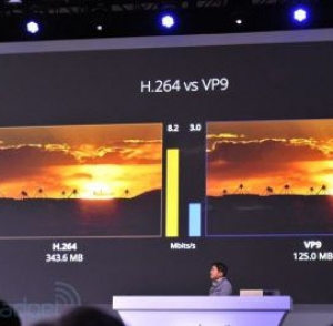 Google receives huge support for their VP9 codec